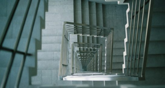 abstract stair maze