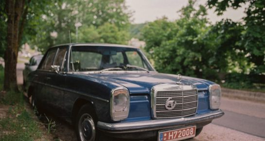 old retro mersedes car photography